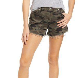 HUDSON JEANS Gemma Cutoff Denim Shorts 25 Camo